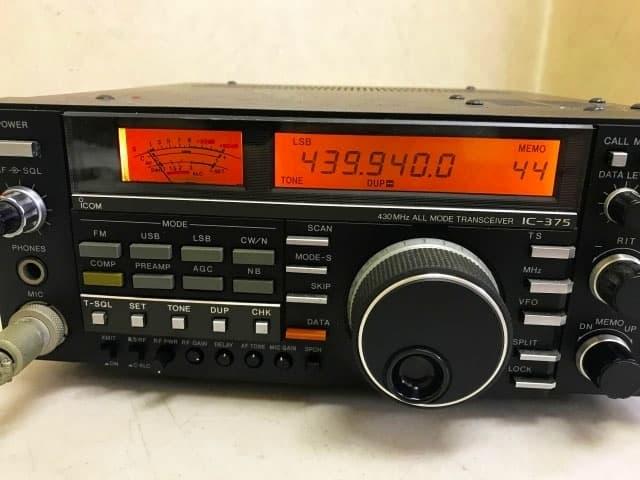 神奈川県 川崎市にて icom/アイコム オールモードトランシーバー 無線機 IC-375 ハンドマイク付き を出張買取しました