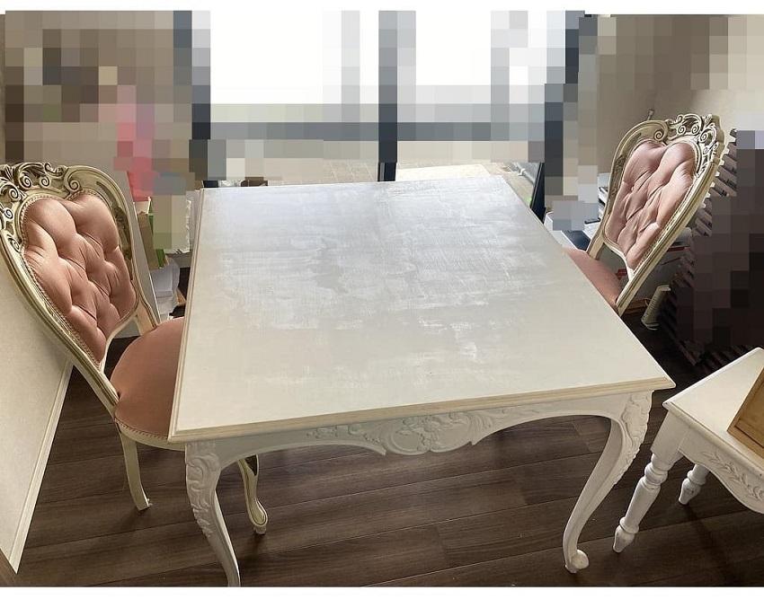 東京都 港区にて オールドメゾン/old maison ダイニングテーブルセット を出張買取しました