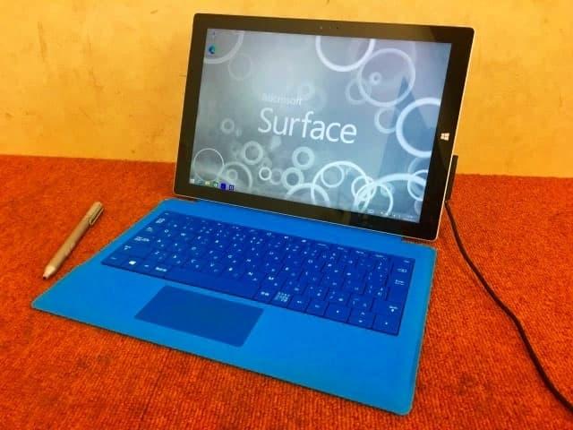神奈川県 相模原市にて マイクロソフト surface Pro3 サーフェス モデル1631 128GB Win8.1 現状品 を店頭買取しました