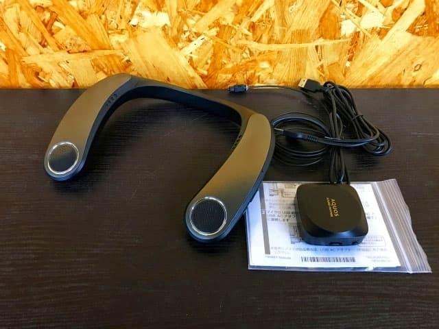 東京都 三鷹市にて シャープ ウェアラブルネックスピーカー AN-SX7A を出張買取しました