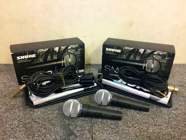 神奈川県横浜市 にてSHURE ダイナミック型マイク SM58SE 2本セット を出張買取買取しました