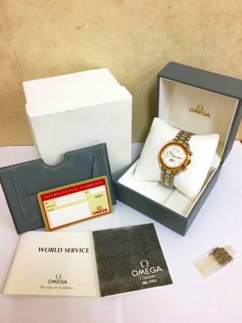 東京都 世田谷区にて OMEGA/オメガ 腕時計 スピードマスター MASION FONDEE EN 1848 サン&ムーン を店頭買取しました