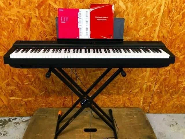 東京都 八王子市にて ヤマハ 88鍵盤 電子ピアノ P-125B 2019年製 スタンド付 を出張買取しました