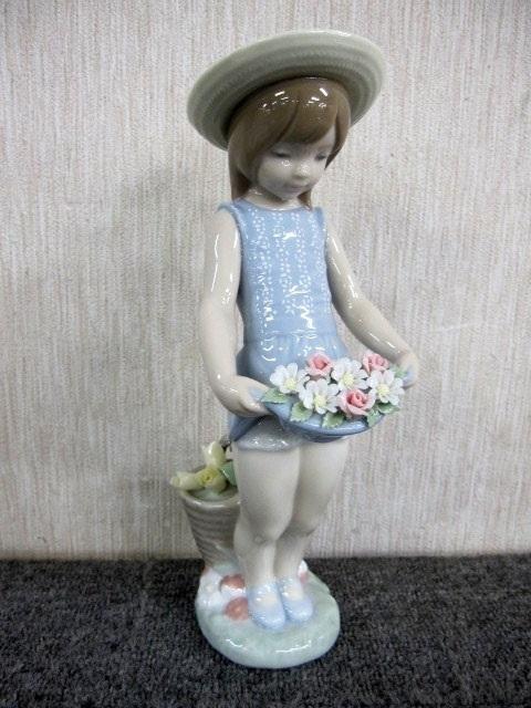 リヤドロ スカートに花いっぱい フィギュリン 陶器人形