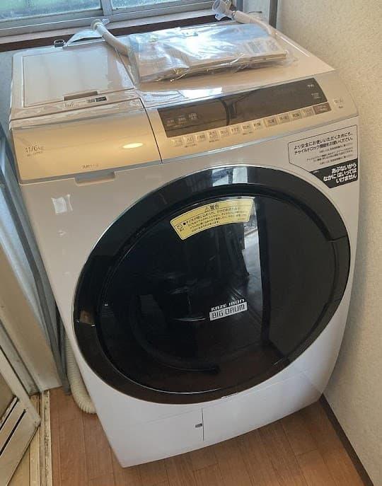 中野区にて ドラム式洗濯機 日立 BD-SX110E 2019年製 を出張買取しました