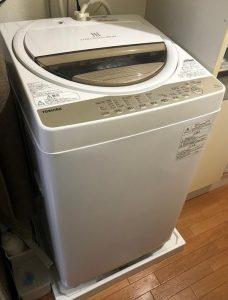 品川区にて 洗濯機 東芝 AW-6G8 2020年製 を出張買取致しました