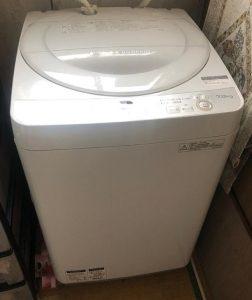 東久留米市にて 洗濯機 シャープ ES-GE7B 2018年製 を出張買取致しました