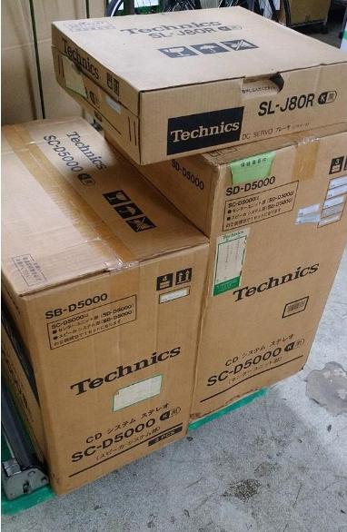 小平市にて テクニクス システムステレオセット SL-J80R SC-D5000・SD-D5000を店頭買取致しました