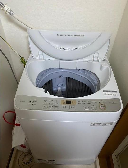 世田谷区にて 洗濯機 シャープ ES-GE6C 2019年製 を出張買取致しました