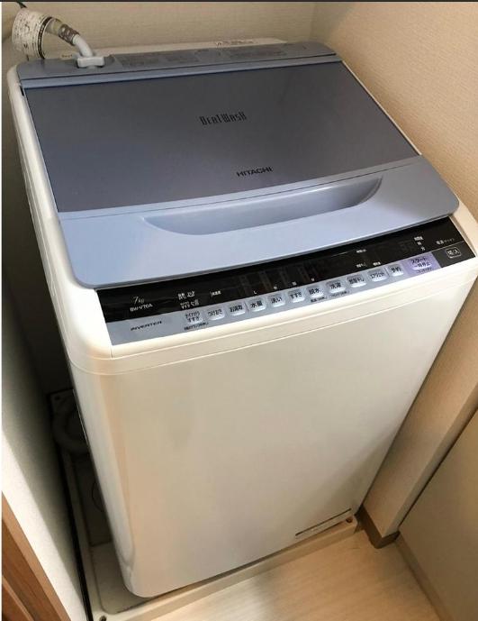 小金井市にて 洗濯機 日立 BW-V70A 2017年製 を出張買取致しました