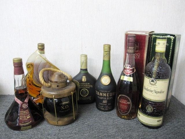 小平市にて 洋酒まとめ 7点 CAMUS VSOP Mandarine TANNEUR ナポレオン等 を出張買取致しました